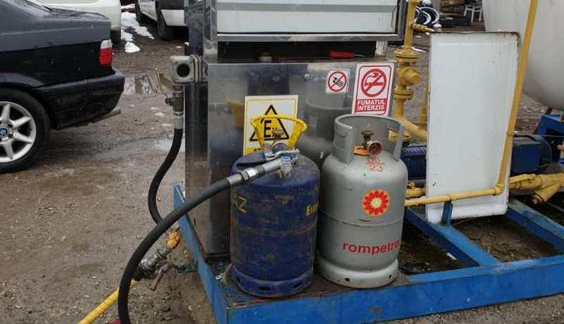 statie GPL_butelie de gaz