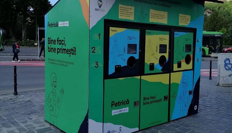 Automatul de reciclare Petrică Brașov 1